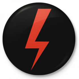 Badge avec bouton Women's Strike, Women's Hell, Hard Ride