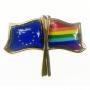 Pin de botón, bandera UE-LGBT Rainbow