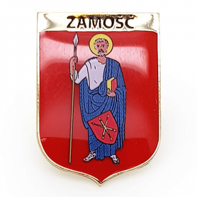 Button, pin coat of arms of Zamość