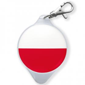 TwinCaps keychain Polish flag