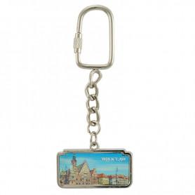 Wroclaw panorama horizontal keychain