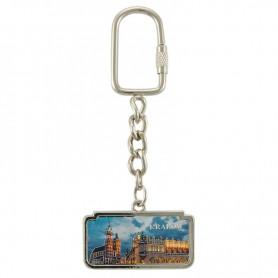 Krakow horizontal keychain by night panorama