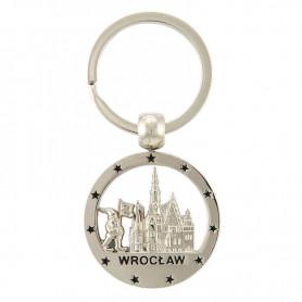 Round Wroclaw keychain