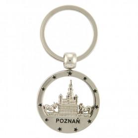 Round Poznan keyring