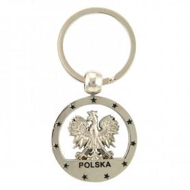 Round Poland keyring