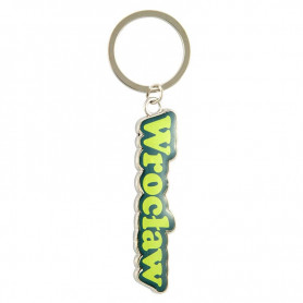 Colorful key ring with the word Wroclaw
