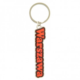 Colorful keychain with the word Warsaw