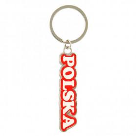 Porte-clés coloré avec l'inscription Pologne