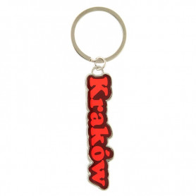 Colorful key ring with the word Krakow