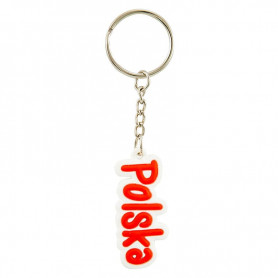 Porte-clés en caoutchouc avec l'inscription POLSKA