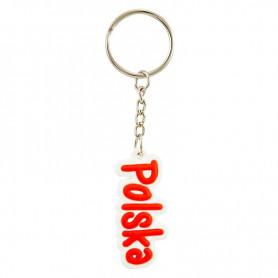 Rubber key ring with the inscription POLSKA