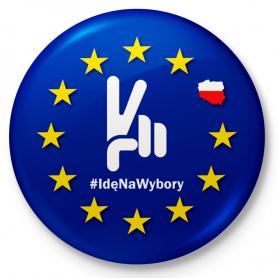 Aimant de réfrigérateur de bouton Je vais aux élections de l'Union européenne