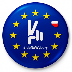 Button fridge magnet I'm going to the European Union elections