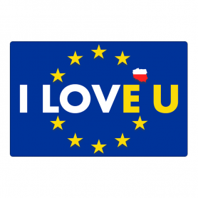 Magnes na lodówkę I LOVE U - Chcę być w Unii