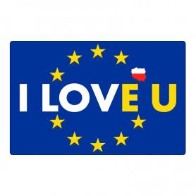 Šaldytuvo magnetas I LOVE U - Aš noriu būti Sąjungoje