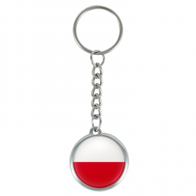 Polish flag keychain