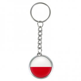 Poolse vlag sleutelhanger