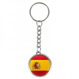 Schlüsselanhänger mit spanischer Flagge