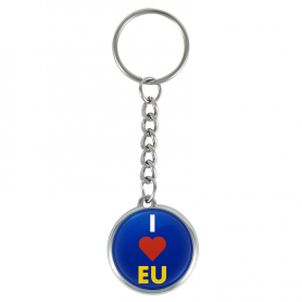 I ❤️ llavero de la UE