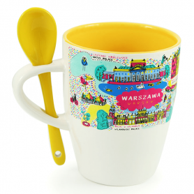 A mug with a spoon Warsaw