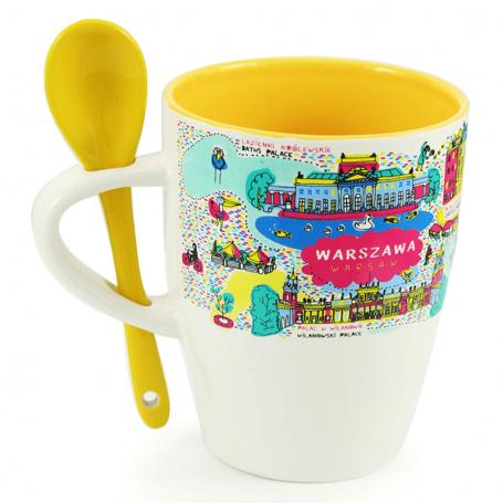 Una taza con una cuchara de varsovia