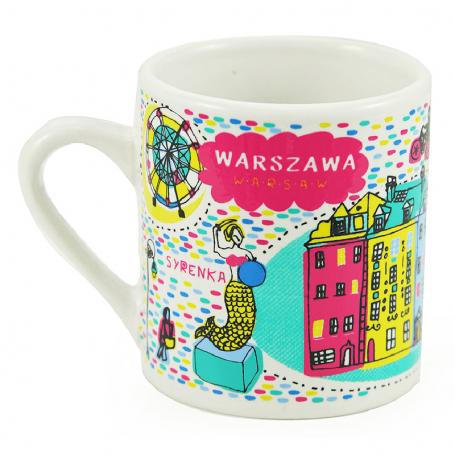 Taza pequeña del mercado de Varsovia