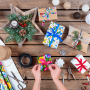 Papier décoratif pour emballages cadeaux - Łowicki noir