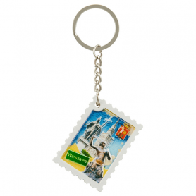 Schlüsselanhänger gedruckt Stempel Warschau
