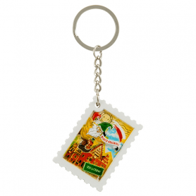 Key chain printed stamp Wroclaw