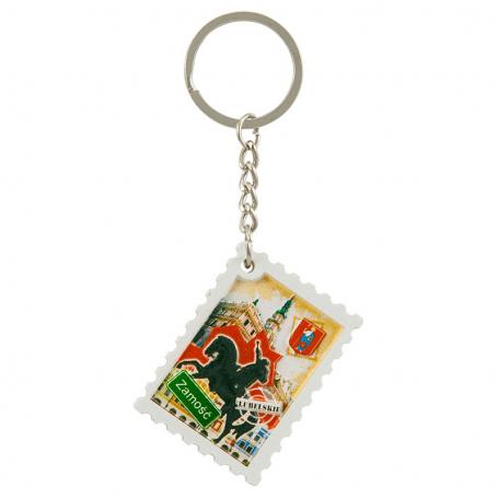 Porte-clés timbre imprimé Zamość