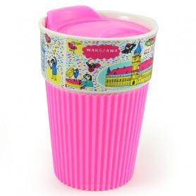Silicone mug Warsaw - pink
