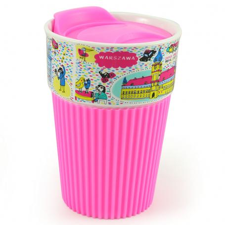 Silikoninė puodelis Varšuva - rožinė