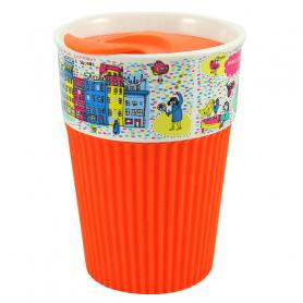 Silicone mug Warsaw - orange