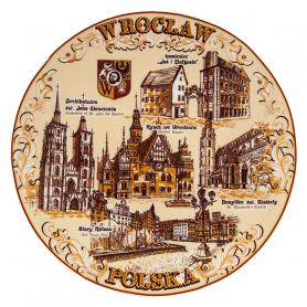 Talerz pamiątkowy Wrocław sepia