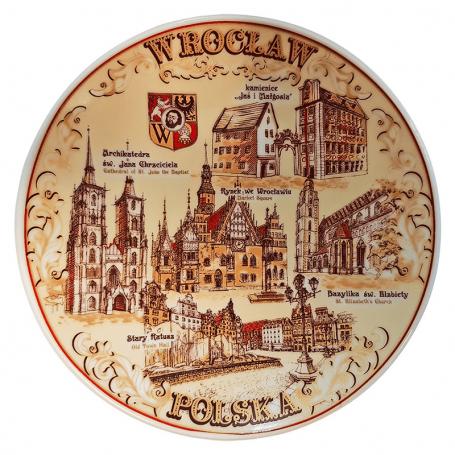 Talerzyk pamiątkowy Wrocław
