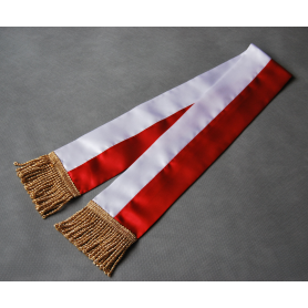 White and red ribbon for the PZŁ banner