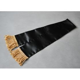 Ein Trauerband, schwarz zum Banner des Polnischen Jagdverbandes
