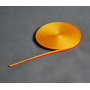 Ruban gros-grain jaune-rouge 1 cm