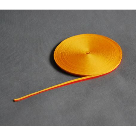 Grosgrain juosta geltona-raudona 1 cm
