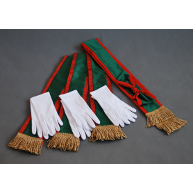 A package of sashes and gloves for the Polish Hunting Association