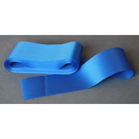 Satin ribbon, one-sided, blue 10 cm