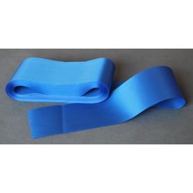 Satinbånd, ensidig, blå 10 cm
