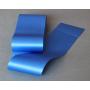 Ruban satin, unilatéral, bleu 10 cm