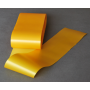 Ruban satin, unilatéral, jaune 10 cm