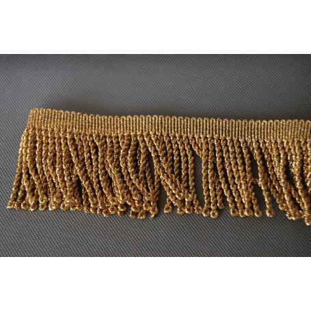 Borlas doradas metalizadas 70 mm