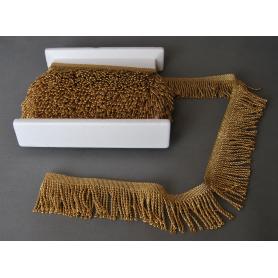 Metallized gold tassels 70 mm, pack of 10 m