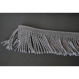Silber metallisierte Quasten 70 mm
