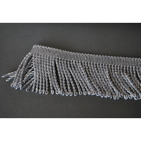 Silver metallized tassels 70 mm