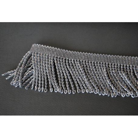 Frędzle metalizowane srebrne 70 mm