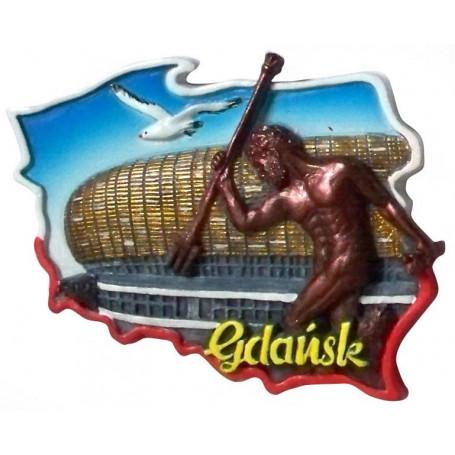 Imán contorno Polonia Gdansk estadio